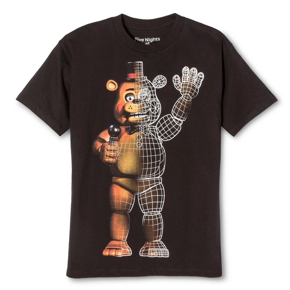 Boys Freddy Wire Frame Bear T-Shirt - Black L