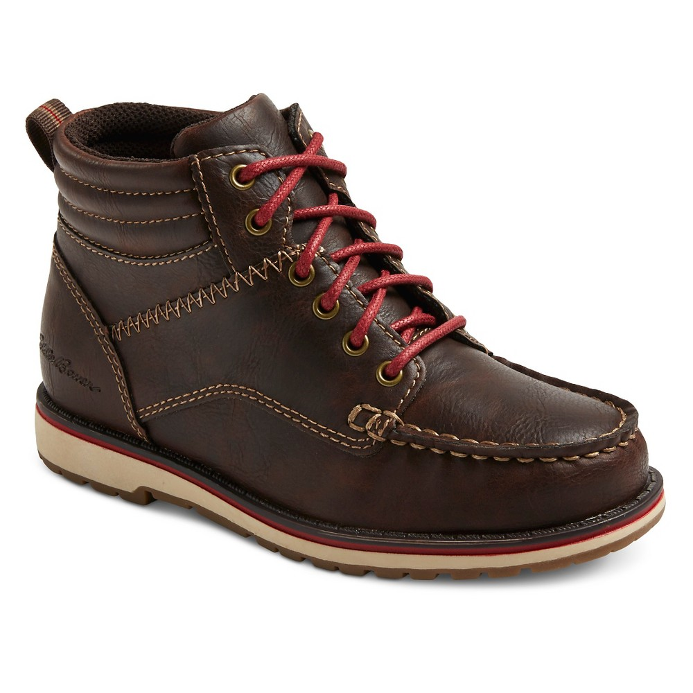 Eddie Bauer Boys Jimmy Moccasin Boots - Brown 13