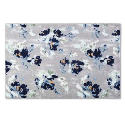 Blue Cool Floral Kitchen Rug (20 X34 )- Threshold™