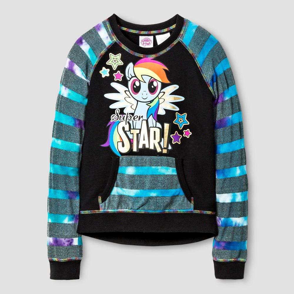 Girls' My Little Pony Pullover - Black 14/16, Size: XL(14-16)