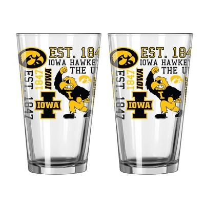 NCAA Boelter Iowa Hawkeyes 16oz 2pk Spirit Pints