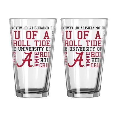 NCAA Boelter Alabama Crimson Tide 16oz 2pk Spirit Pints