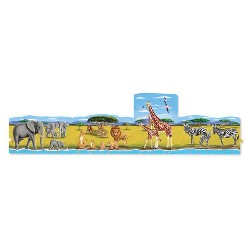 Melissa & Doug® Safari 4-in-1 Jumbo Linking Jigsaw Floor Puzzle (96pc, 5 feet long)