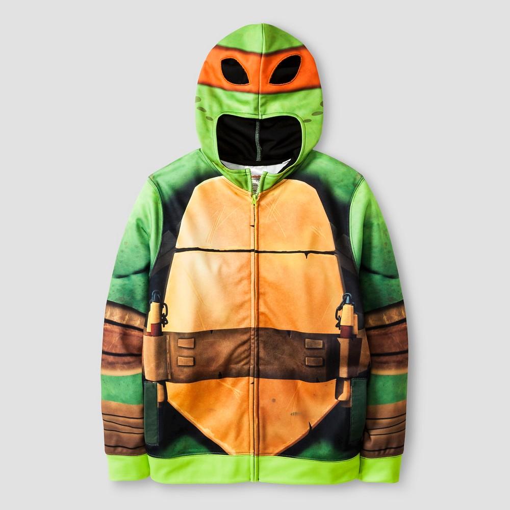 Teenage Mutant Ninja Turtles Boys Hooded Sweatshirt - Green XS