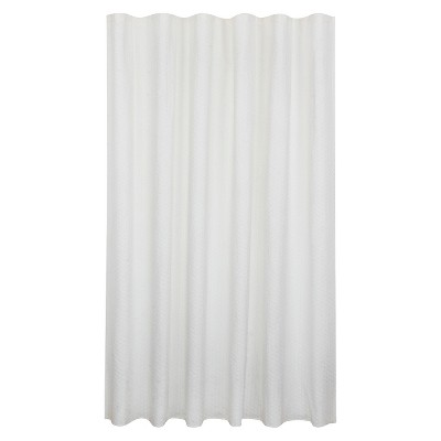 bubble texture natural shower curtain white fieldcrest
