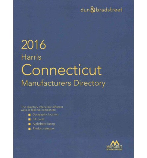 Connecticut Manufacturers Directory 2016 (Paperback) - image 1 of 1