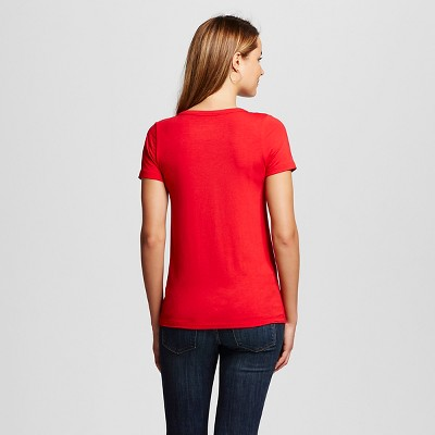 Women's Favorite V Tee Red Pop L - Merona