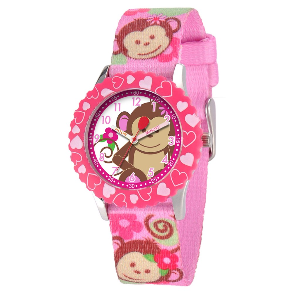 Girls' Red Balloon Stainless Steel Watch - Pink