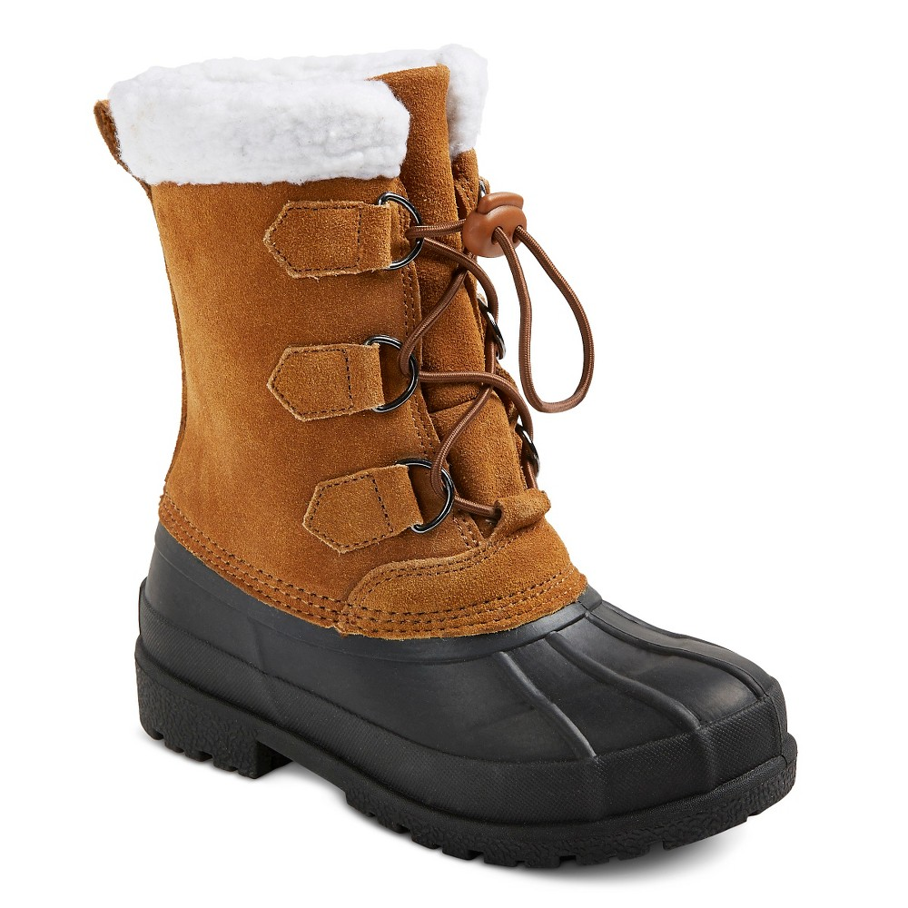 Boys Gilbert Suede Sherpa Top Winter Boots Cat & Jack - Brown 2