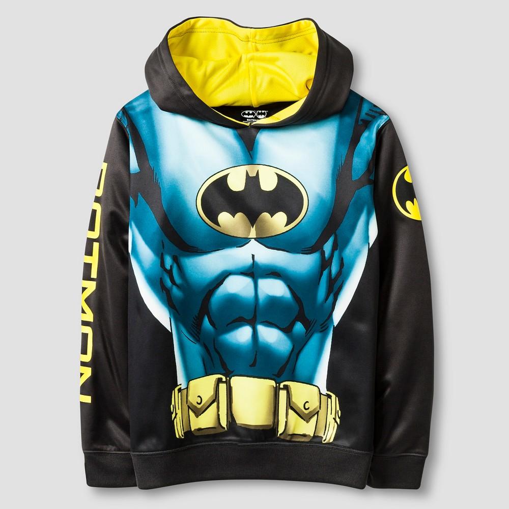 Boys Batman Costume Hooded Sweatshirt - Black/Blue XS