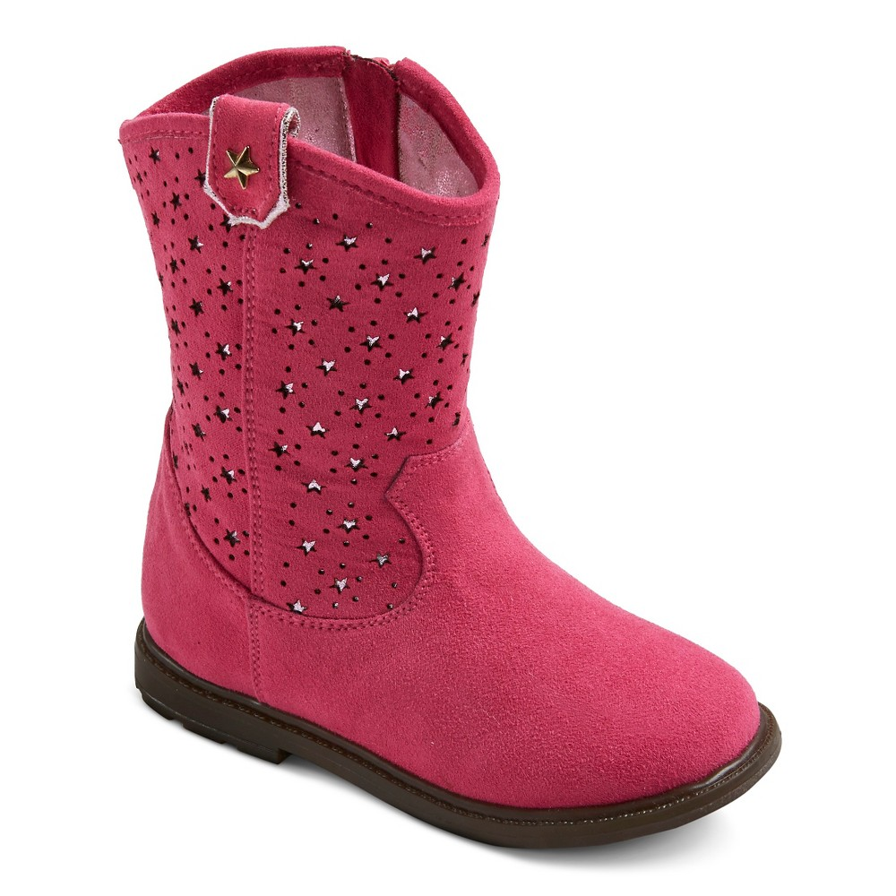 Toddler Girls Just Buds Western Star Comfort Western Boots - Pink 7