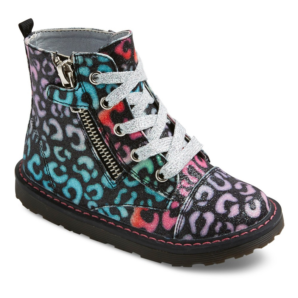 Toddler Girls Just Buds Leopard Glitter Comfort Booties - 11, Multicolored