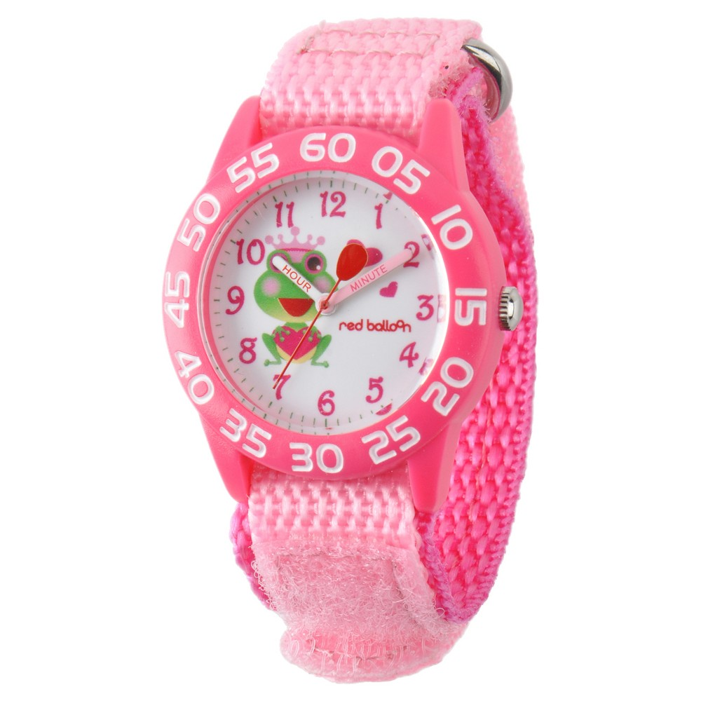 Boys' Red Balloon Pink Plastic Time Teacher Watch - Pink
