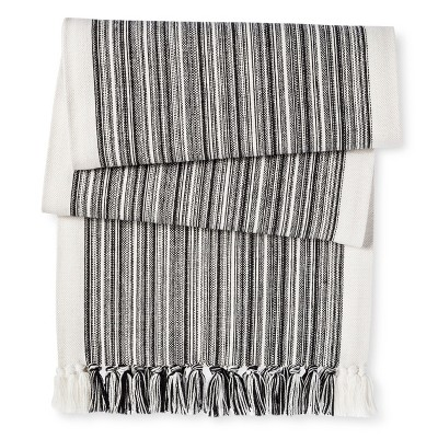 Black Multi Stripe Table Runner (72 )- Threshold™