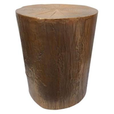 Tree Stump Accent Table Copper Threshold