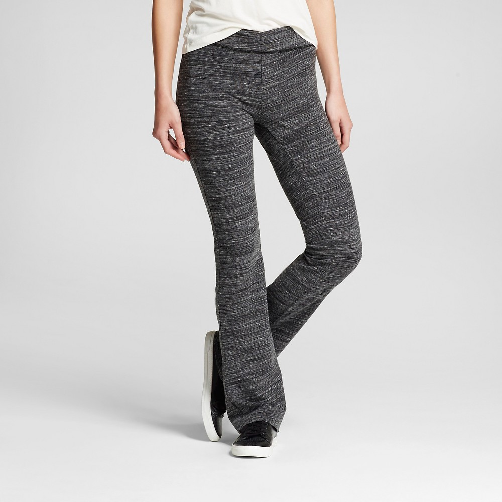 Women's Crisscross Front Bootcut Yoga Pants Charcoal (Grey) L - Mossimo Supply Co. (Juniors')