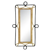 Nate Berkus Rectangular Rattan Wall Mirror
