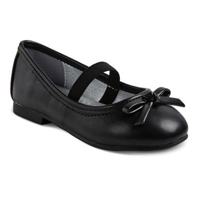Toddler Girls' Just Buds Comfort Mary Jane Dress Ballet Shoes - Black 5