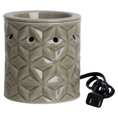 Delta Pattern Electric Scent Warmer Olive - Home Scents by Chesapeake Bay Candle