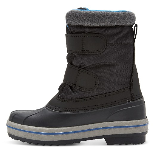 Boys' Neko Double Velcro Strap Winter Boots Cat & Jack™ - Black ...