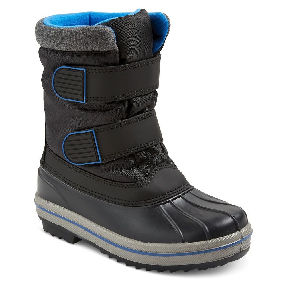 Boys Neko Double Velcro Strap Winter Boots Cat & Jack - Black 3