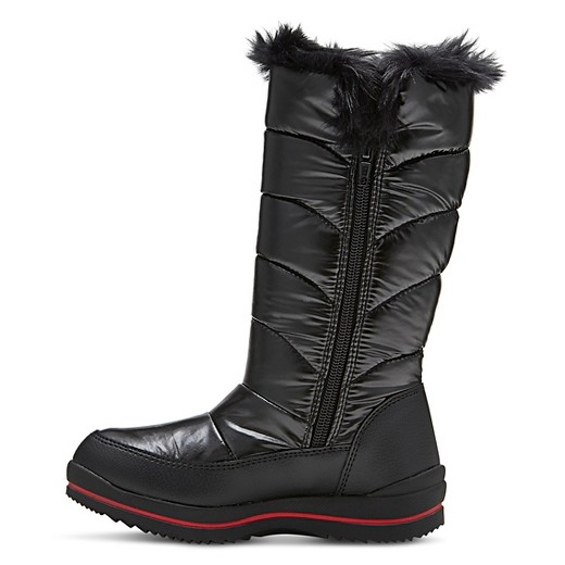 Girls' Nicole Zipper Winter Boots Cat & Jack™ - Black : Target