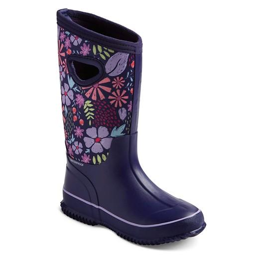Girls' Cat & Jack™ Naima Neoprene Waterproof Rain Boots - Purple ...