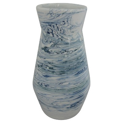 Marbled Vase White/Blue Medium - Threshold™