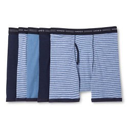 Hanes Men's Dry Striped Ringer Boxer Briefs 5Pack - Assorted Striped