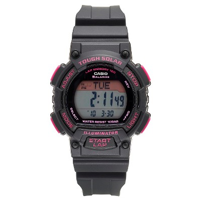 8dec47873 Women's Casio Solar-Powered Runner Watch – Black – BrickSeek