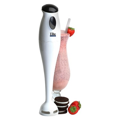 Elite Cuisine Hand Immersion Blender - White