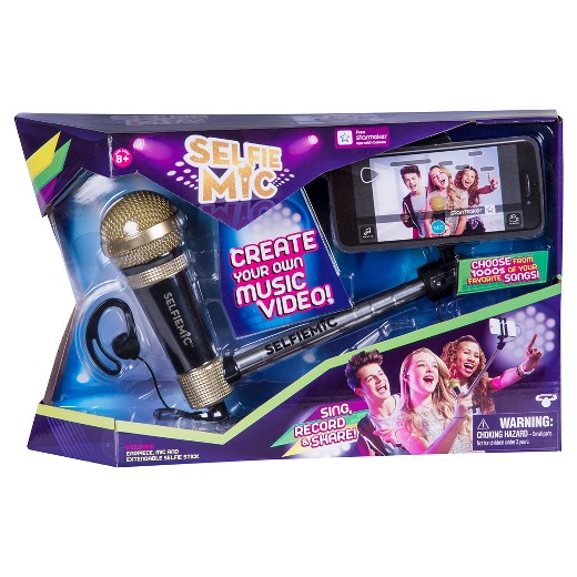 selfie mic karaoke meets selfie stick target. Black Bedroom Furniture Sets. Home Design Ideas