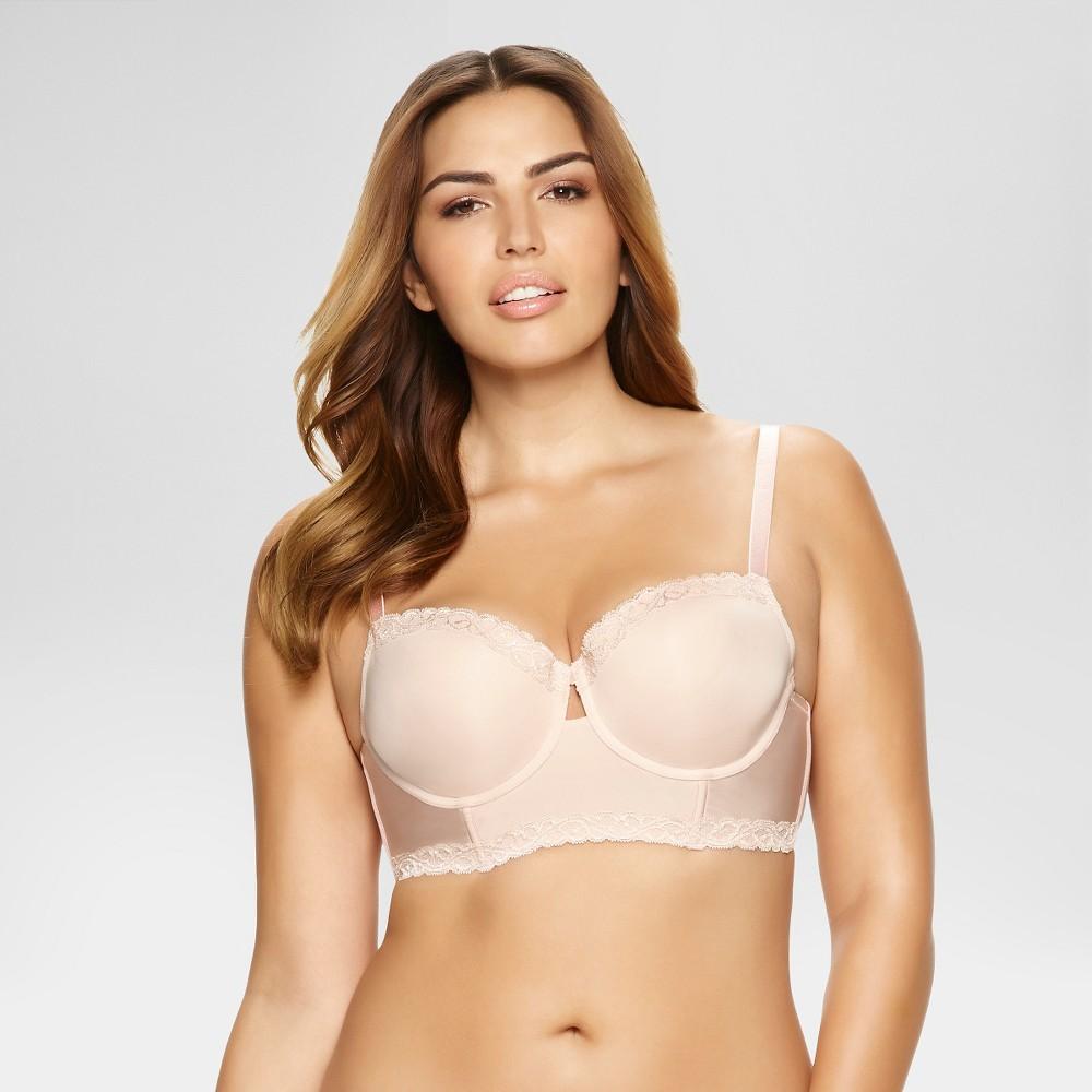 Paramour Womens Vivien Longline Bra - Beige Nude 34D
