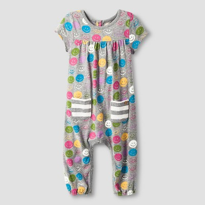 Happy by Pink Chicken Baby Girls' Knit Cover - Grey 6-12M