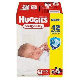 HUGGIES® Snug & Dry Diapers, Super Pack - Newborn (140ct)