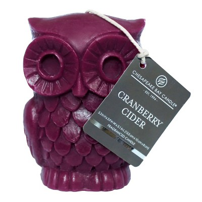 Owl Shaped Candle Cranberry Cider - Chesapeake Bay Candle®