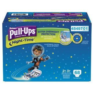 Huggies Pull Ups Boys' Night-Time Training Pants Super Pack - 2T-3T (68ct)