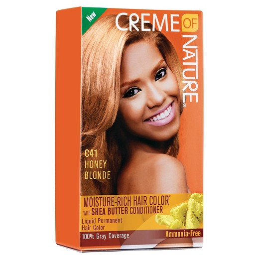 Crème Of Nature Moisture Rich Hair Color C41 Honey Blonde Kit Target