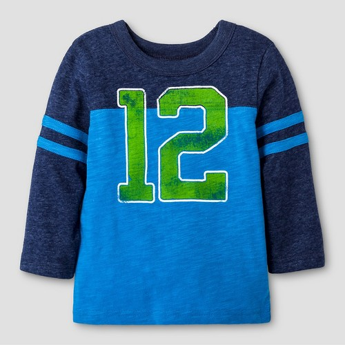 Baby Boys' Long Sleeve T-Shirt Baby Cat & Jack - Blue 18 M, Infant Boy's