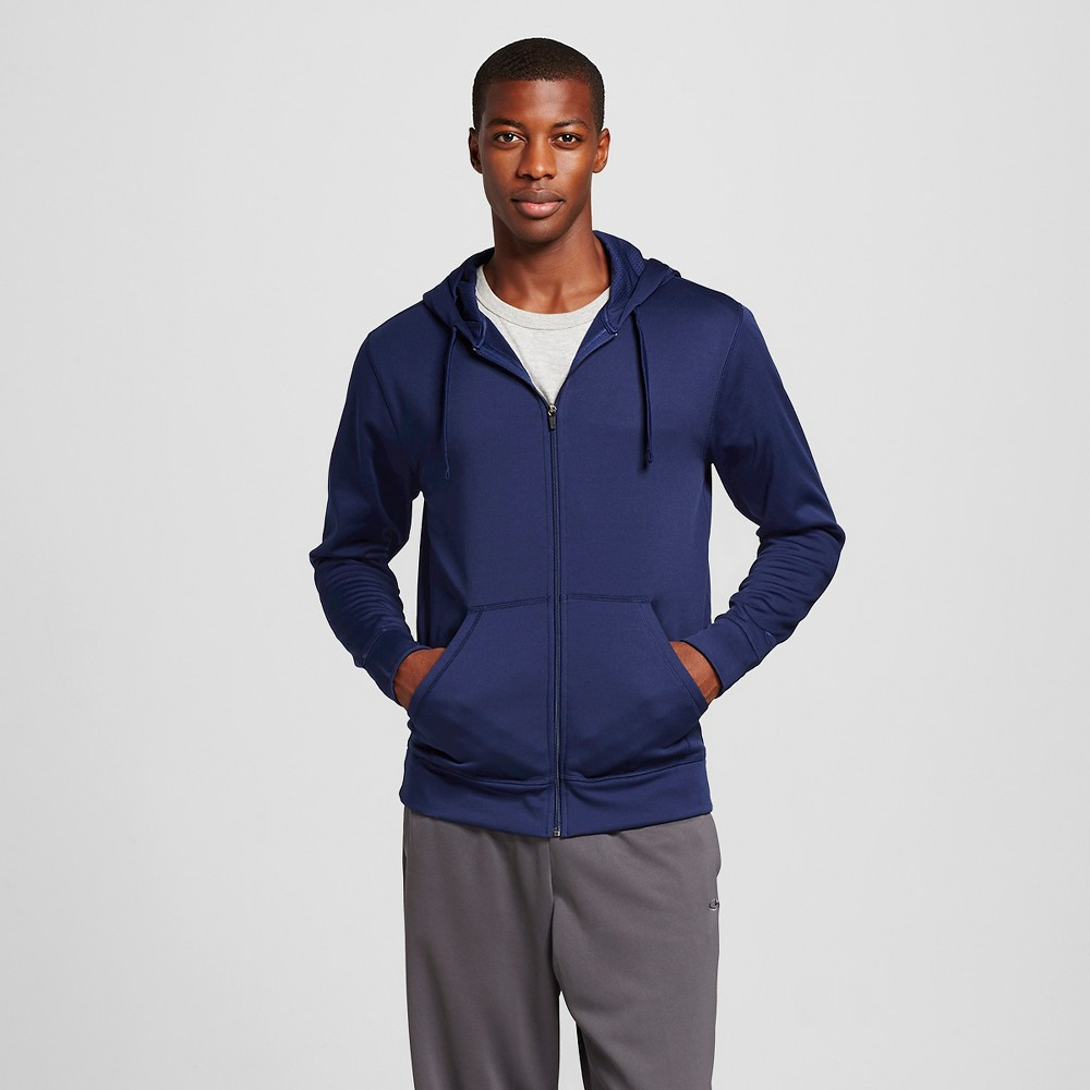 Men's Tech Fleece Full Zip Hoodie - C9 Champion Dark Blue 2XL, Size: Xxl, Dark Night Blue