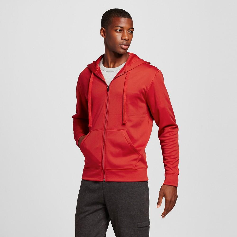 Men's Tech Fleece Full Zip Hoodie - C9 Champion Scarlet (Red) 2XL, Size: Xxl