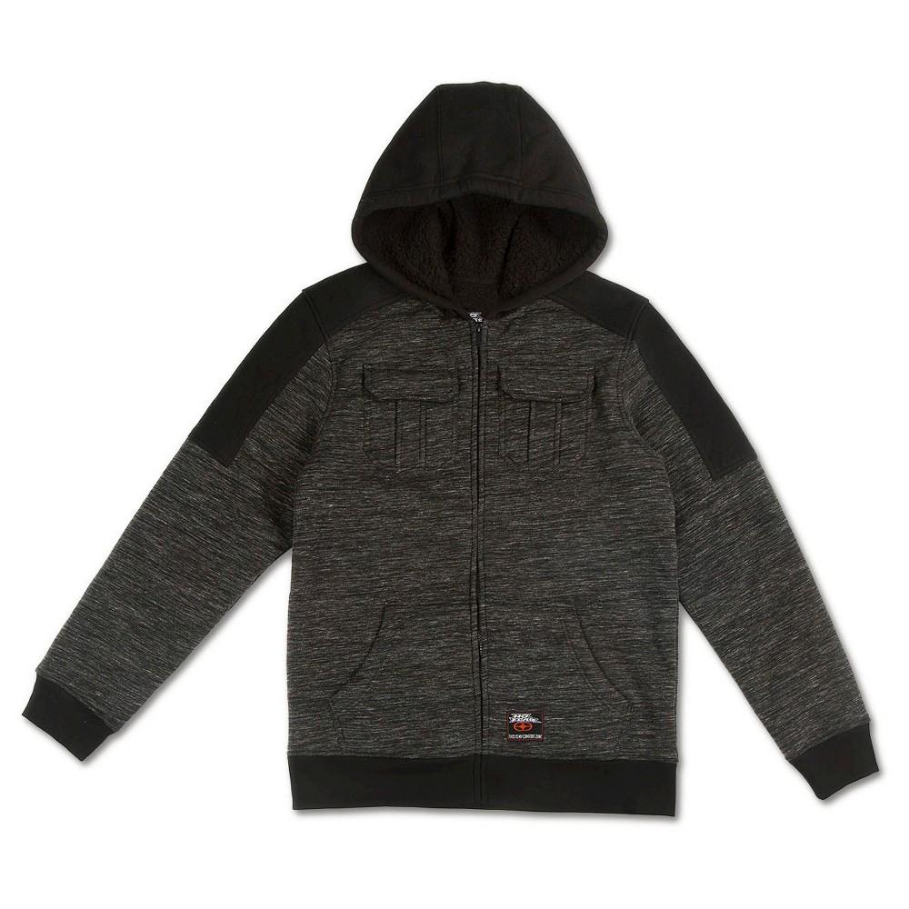 Boys' No Fear Fleece Jacket – Black M, Boy's