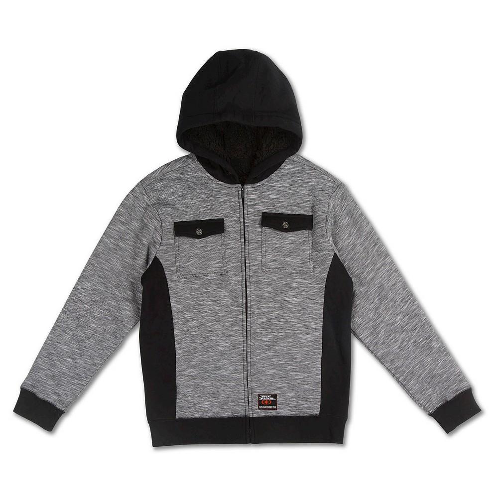 Boys' No Fear Fleece Jacket – Grey/Black S, Boy's