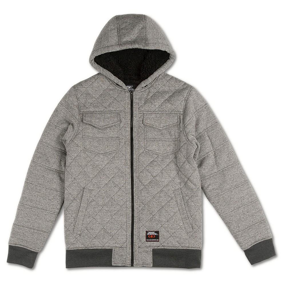 Boys' No Fear Fleece Jacket – Heather Grey S, Boy's