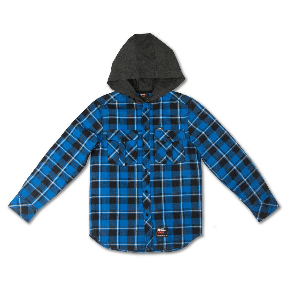 No Fear Boys' Hooded Flannels – Royal Blue – S, Boy's