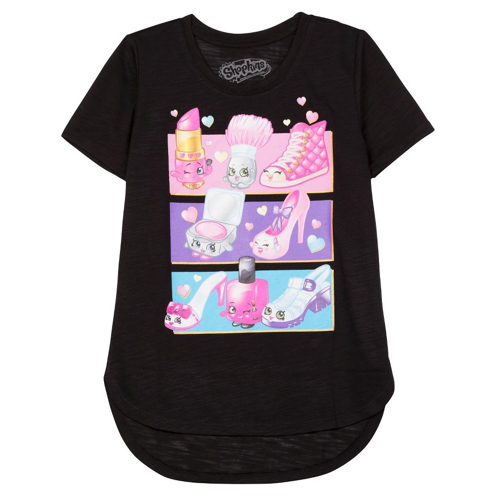 Girls' Shopkins Short Sleeve T-Shirt - Black L