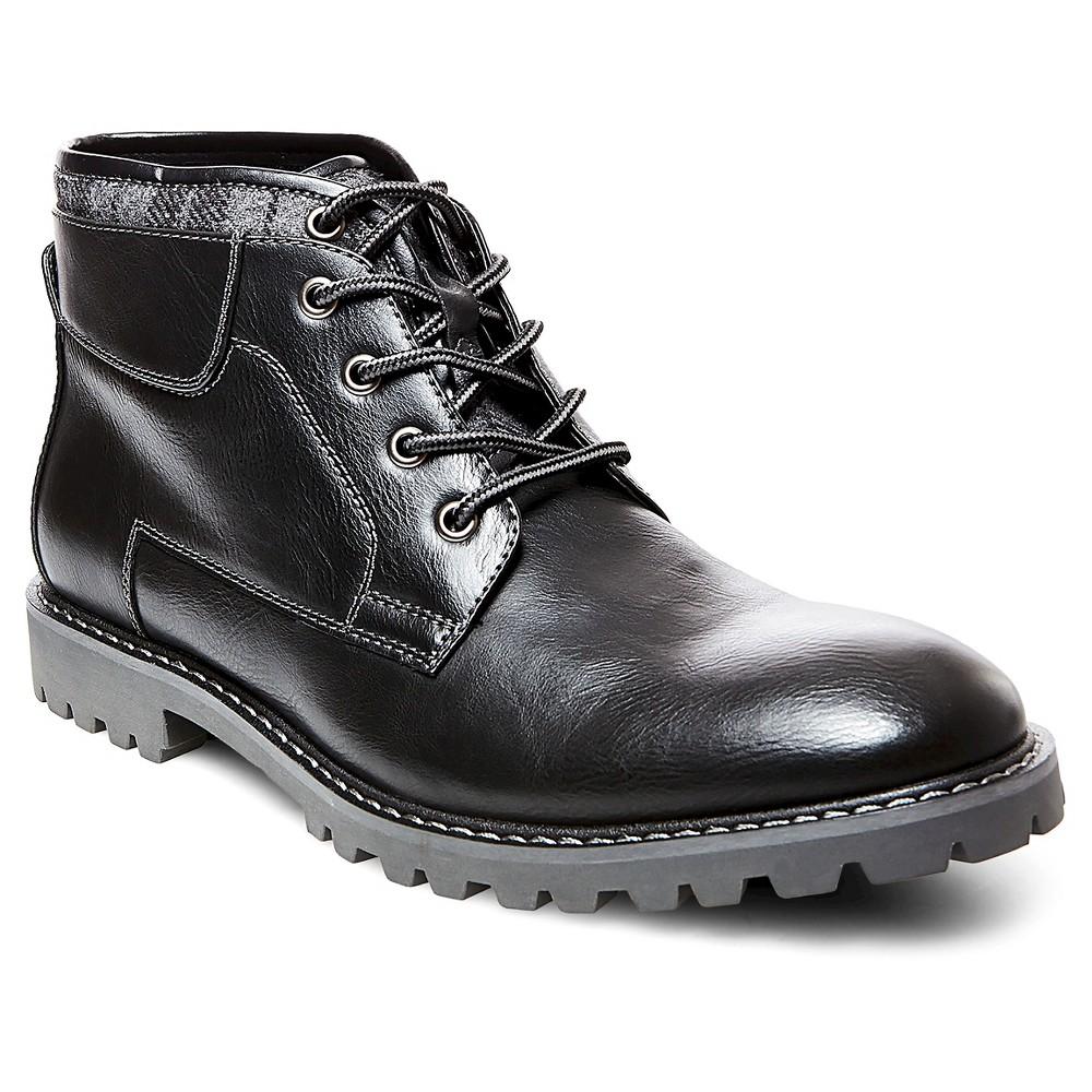 Mens SoHo Cobbler Sean Sweater Top Chukka Boots - Black 10.5