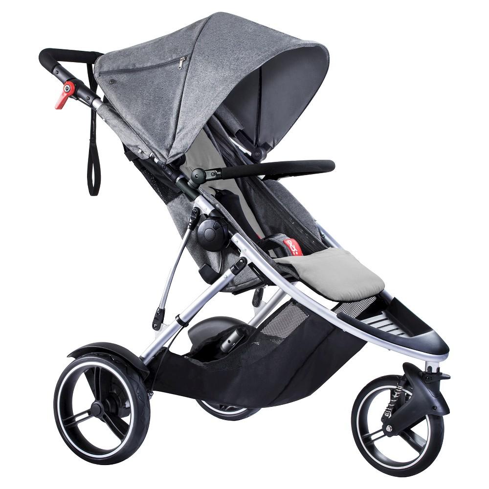PHIL&TEDS Dash Inline Stroller, Gray Marl, Marled Gray