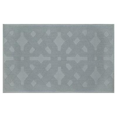 Jacquard GeometricWoven Bath Mat Silver Green - Fieldcrest™