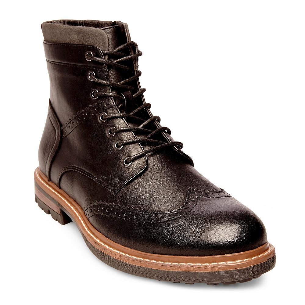 Mens SoHo Cobbler Evan Wingtip Booties - Black 8.5